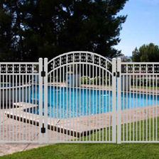 Decorative pool fence